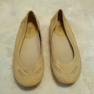 Bass moccasin style ballet flats